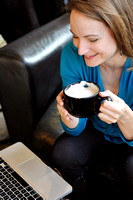 Amanda Armstrong-Photo shoot at Borjo Coffeehouse